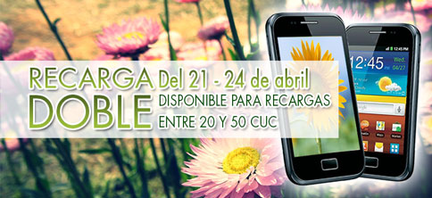 Oferta Recarga doble Abril